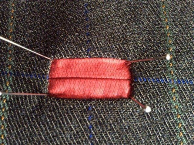 Binding a buttonhole