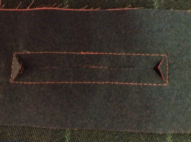 How to sew a bound pocket