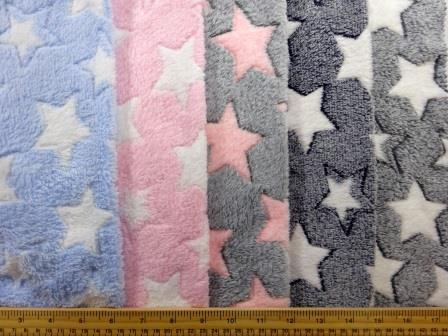 Low cost flece fabrics