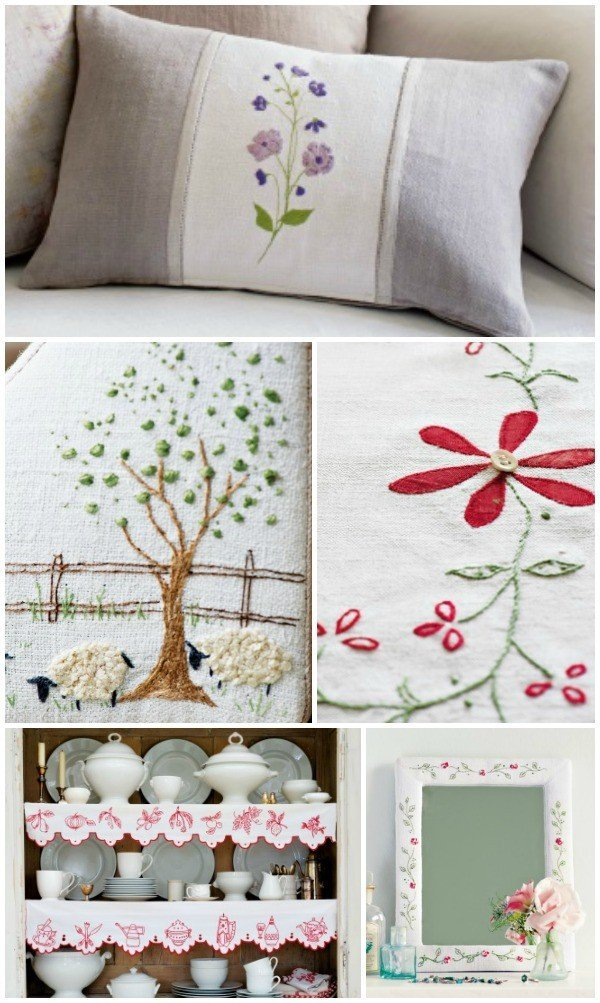 Projects from The Hand Stitched Home book
