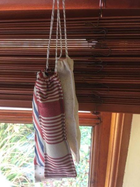 Hanging lavender bags