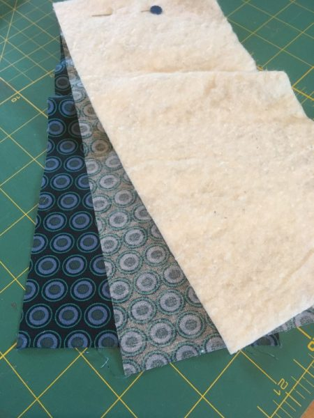Easy roll to carry sewing supplies