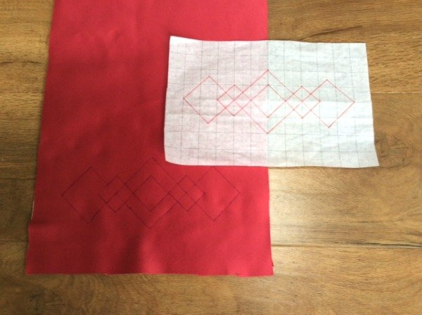 Marking designs for hand quilting