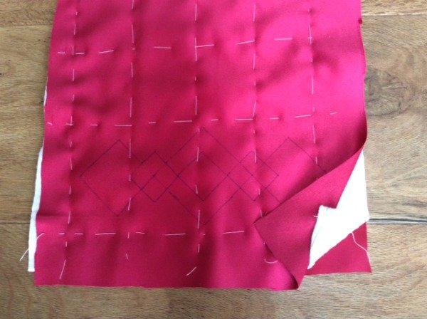 Tacking layers for hand quilting