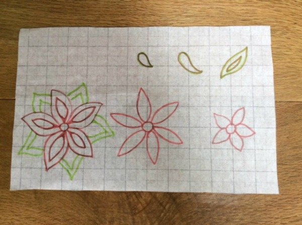 Draw templates for hand embroidery