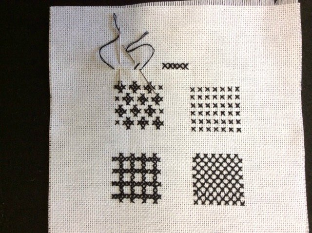 Cross stitch in blackwork