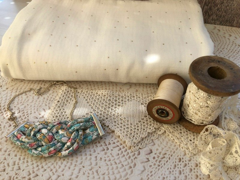 Sewing with double gauze