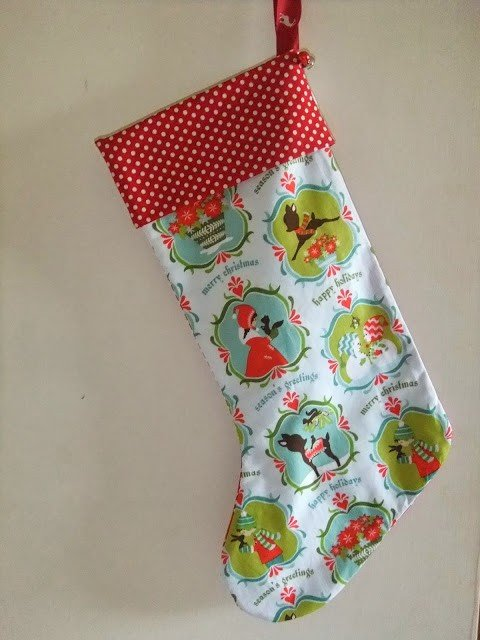 How to sew a lined Christmas Stocking