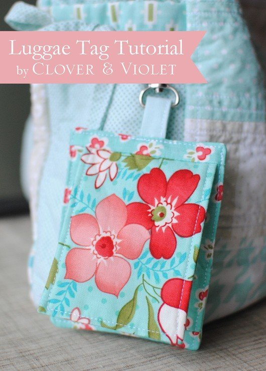 How to sew luggage tags