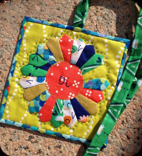 Mini blocks for a lanyard to sew