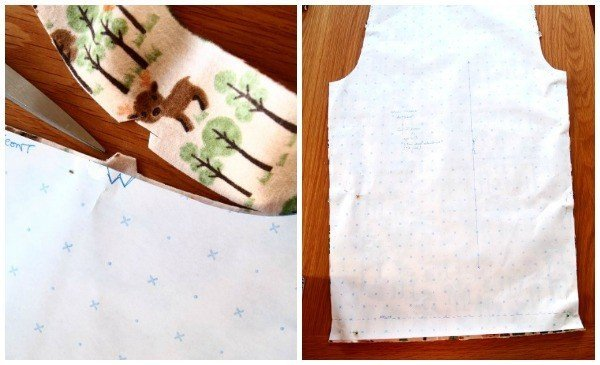 Cutting notches when sewing