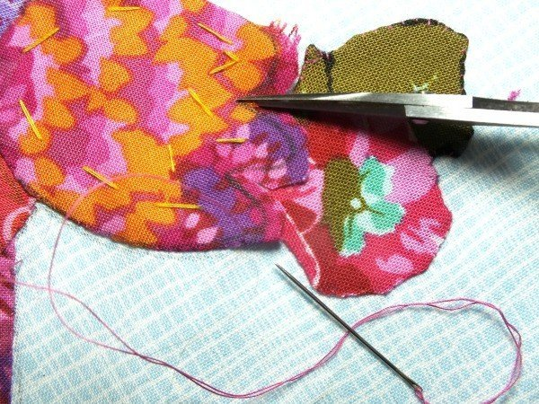 Layering hand applique pieces