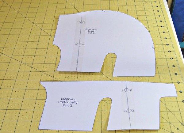 Elephant toy free pattern
