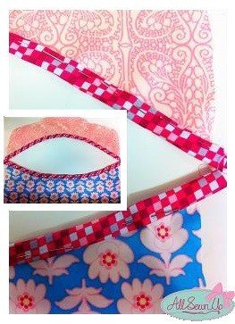 Sew bias binding on a curve