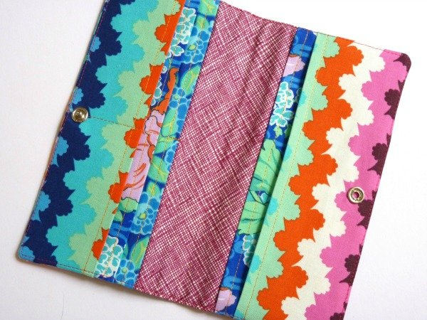 Make a wallet with a popper closure