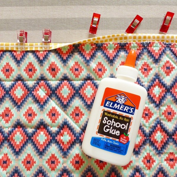 How to glue baste quilt binding