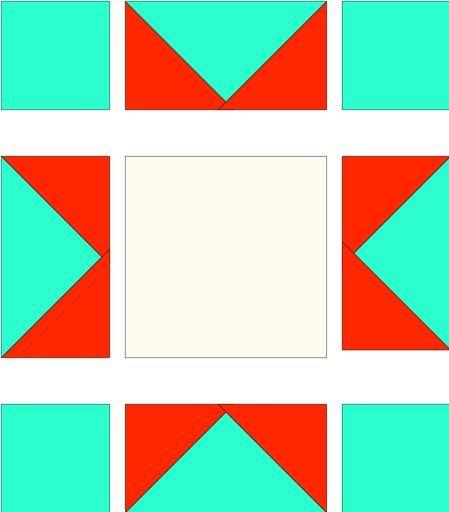 Sawtooth star layout