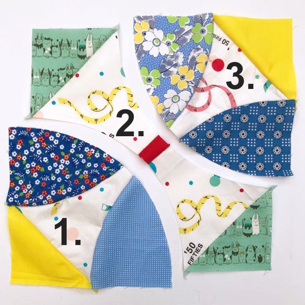 Hand sewing patchwork blocks