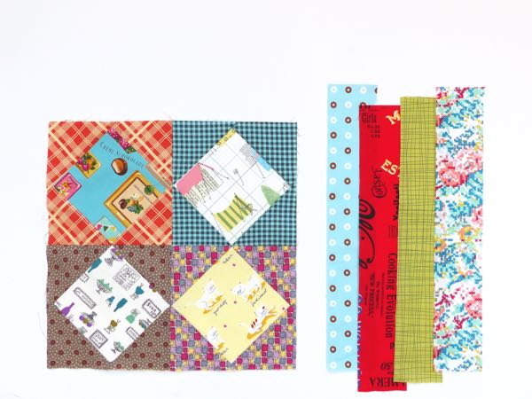 How to add sashing around your quilt block