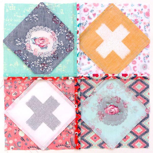 Neatly pressed quilt block seams