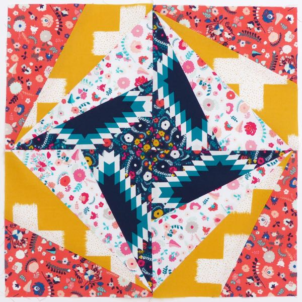 Ray of light quilt block