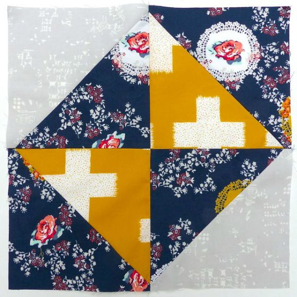 How to make a broken dishes quilt block