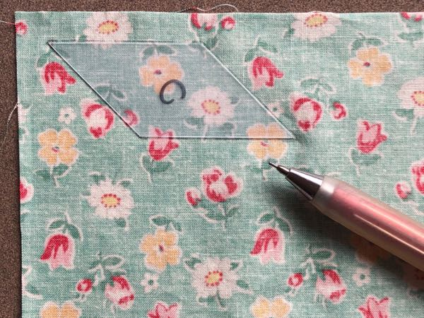 Using acrylic templates for patchwork