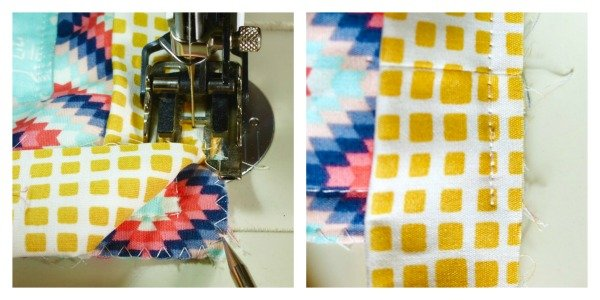 How to mitre the corners of a quilt
