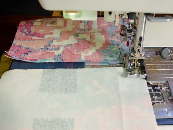 Beginner's quilt piecing