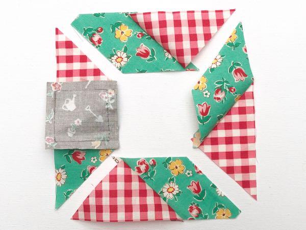 Hand stitched quilt blocks
