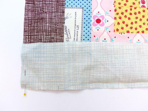 How to close a partial seam - quilt sashing