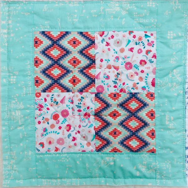 How to quilt a quilt with straight lines
