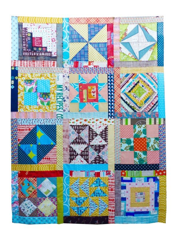 Quilt top with partial seams sashing