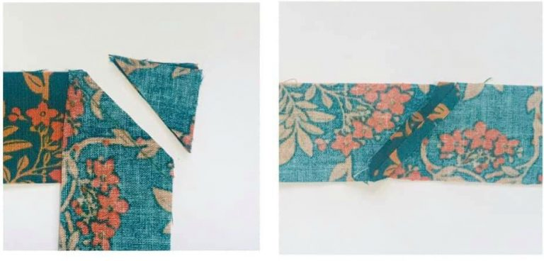 Prepare fabric for piping