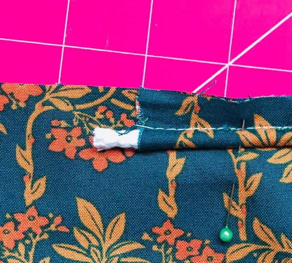 Sewing with piping cord