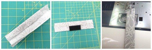 Sew a plastic pocket