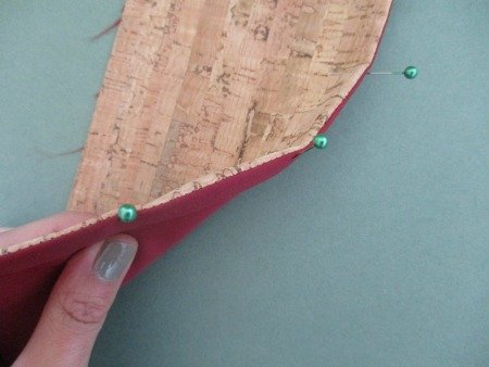 Sewing with cork material