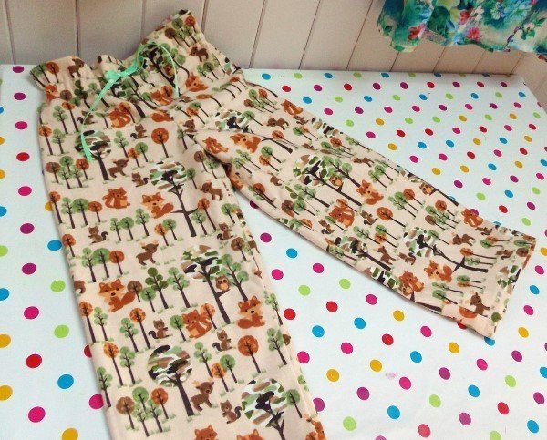 Sew with flannel fabric