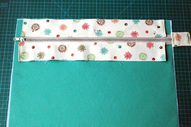 Adding a zip panel to a bag
