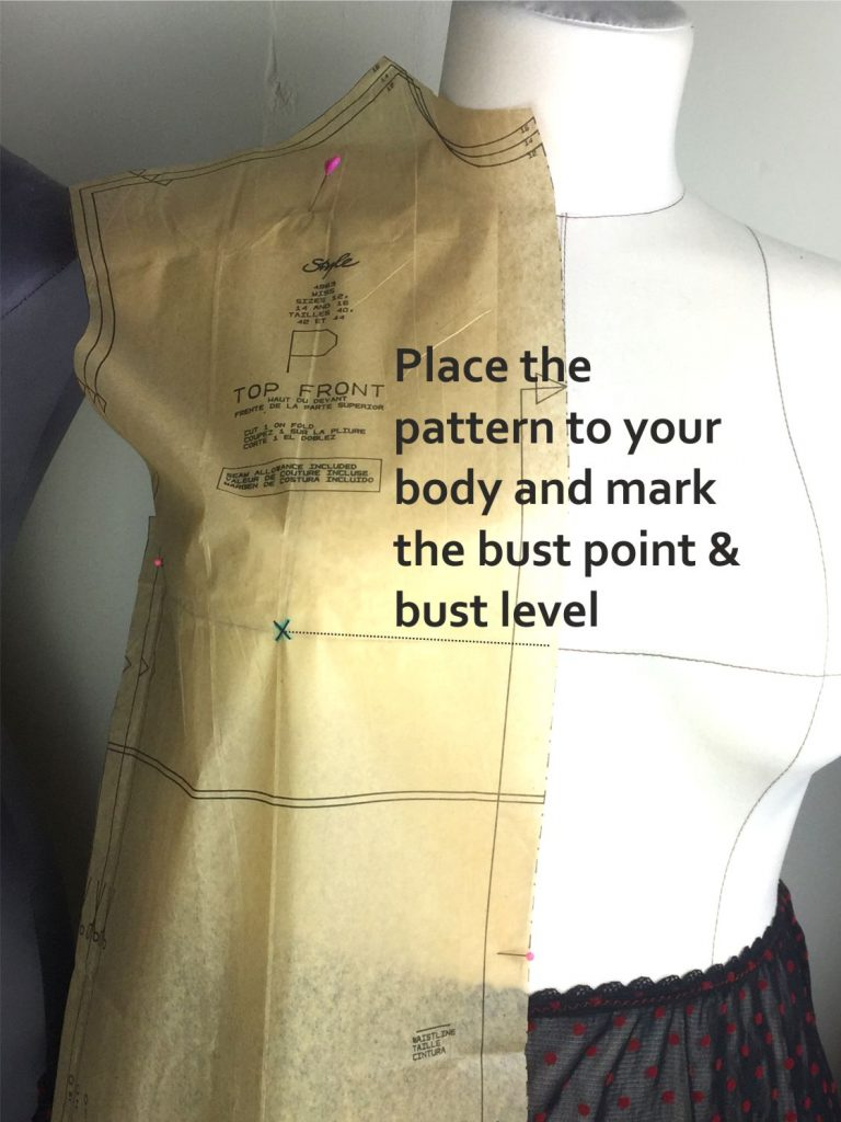 How to do a full bust adjustment on a sewing pattern