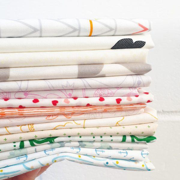 Rainbow low volume fabrics