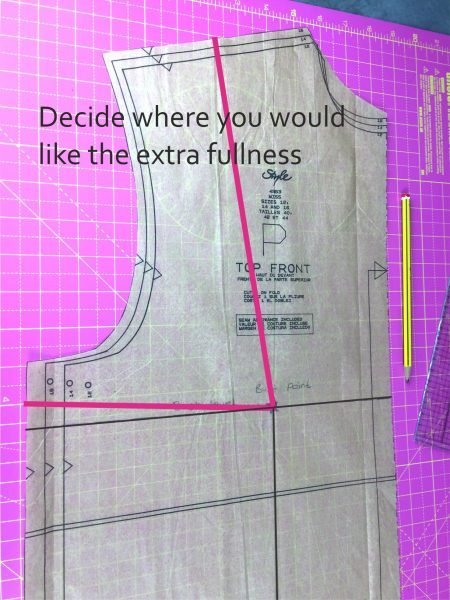 How to adjust a sewing pattern to fit a large chest