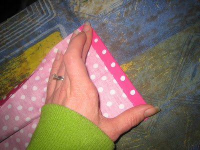 Sew ties for an apron