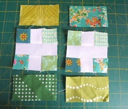 Making patchwork panels for a pouch