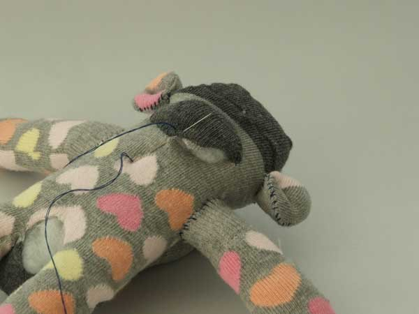 How to hand sew a sock animal