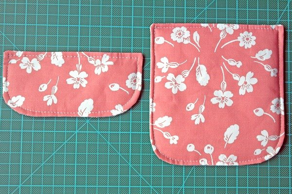Sewing pocket flaps for a bag