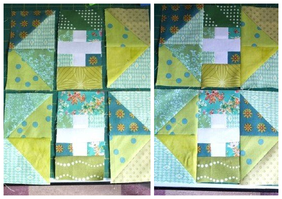 How to make a patchwork first aid cross panel