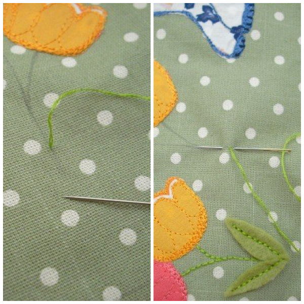 Learn to do back stitch
