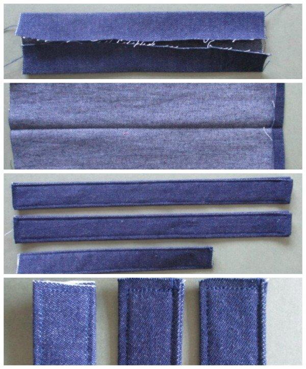Sew rucksack bag straps