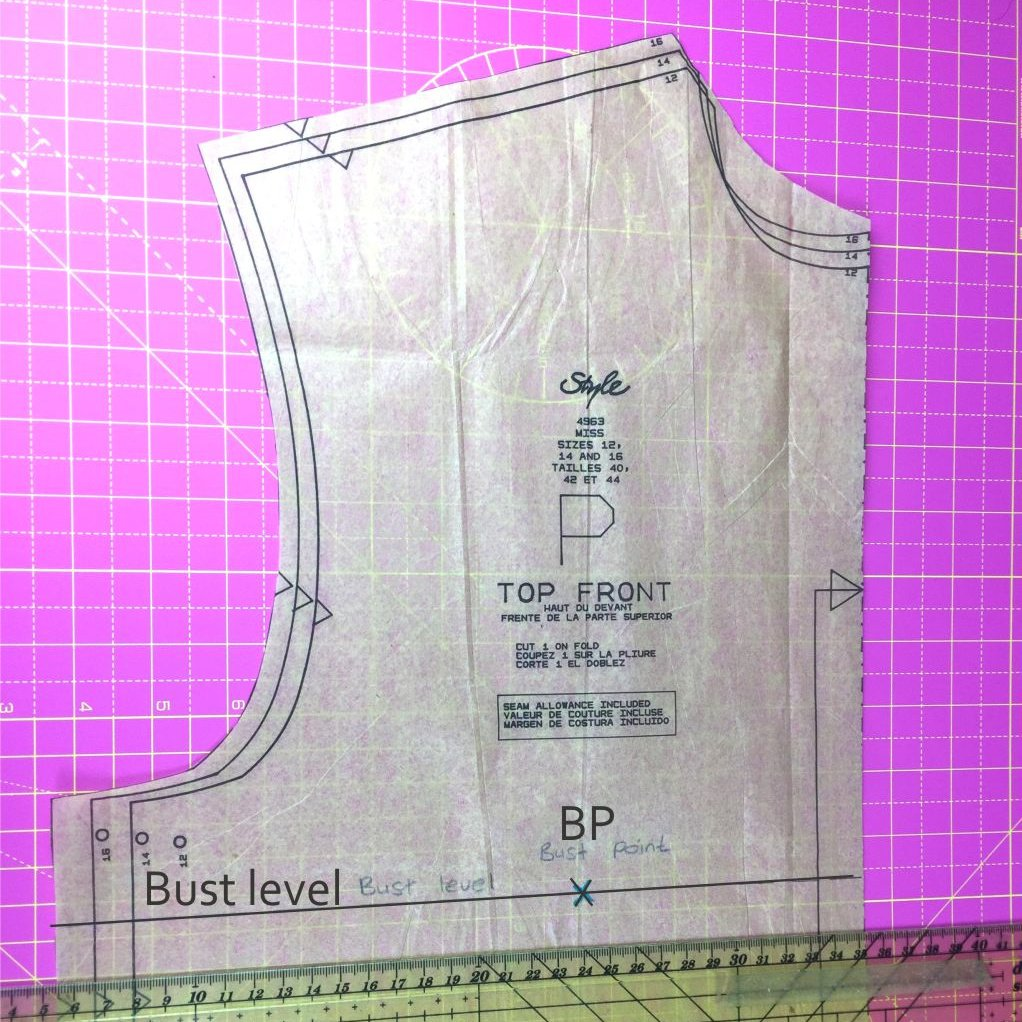 How to alter the bust line on a sewing pattern